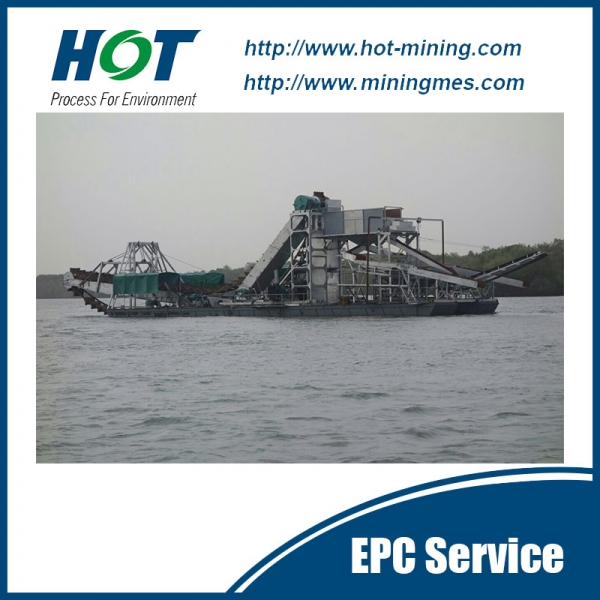 Export Good Quality Bucket Chain Alluvial Gold Dredger