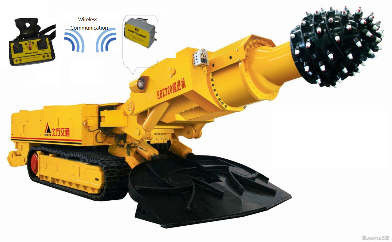 Remote control mining equipment_radio remote control system__roadheader_line of sight_underground mining_HOT Mining_kyle